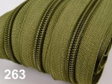 1m endlos-Reissverschluss 3mm inkl. 5 St. Zipper - 263