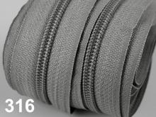 1m endlos-Reissverschluss 5mm inkl. 3 St. Zipper - 316