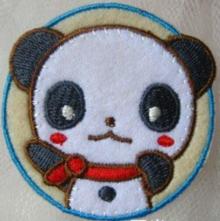 """Bügelbild - """"Panda rund"""", 53x53mm"""