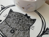 "Plotter-Datei ""Happy Cat"" #1"