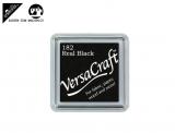Stempelfarbe 3.3cm für Stoff, Papier, usw. - real black