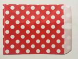 10 St. Papiertüten Punkte rot/weiss  13x18cm