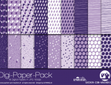 "Digi-Papers ""flying herats - violet"""