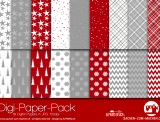 "Digi-Papers ""Christmas red/white"""