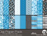 "Digi-Papers ""mountains - blue"""