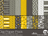 "Digi-Papers ""mountains - yellow"""