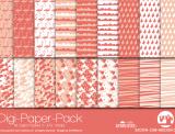 "Digi-Papers ""flamingo - apricot"""