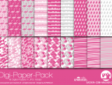 "Digi-Papers ""flamingo - pink"""