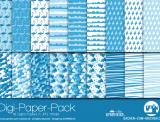 "Digi-Papers ""flamingo - blue"""