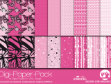 "Digi-Papers ""butterfly - pink"""