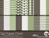 "Digi-Papers ""anchor green"""