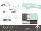 Digi-Stamp *diamonds* #2