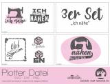 "Plotter-Datei ""ich nähe"" (3er-Set)"