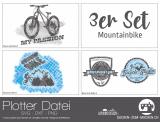 "Plotter-Datei ""Mountainbike"" (3er-Set)"