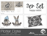 "Plotter-Datei ""happy rabbit"" (3er-Set)"