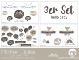 "Plotter-Datei ""hello baby"" (3er-Set)"