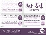 """Plotter-Datei """"Bordüren"""" (3er-Set)"""