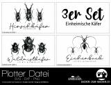 """Plotter-Datei """"einheimische Käfer"""" (3er-Set)"""