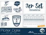 "Plotter-Datei ""Ostseebrise"" (3er-Set)"