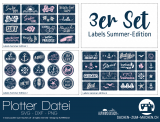 "Plotter-Datei ""Labels Summer-Edition"" (3er-Set)"
