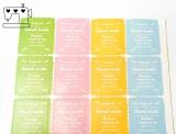 """""""hand made - Farben mixed"""" Aufkleber  3x2.5cm, 3 Bögen (36 Sticker)"""