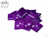 "20 St. Label ""Sterne"" violett/lila"