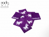"""20 St. Label """"Einhorn"""" violett"""