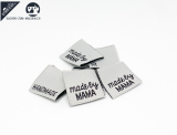 "20 St. Label ""made by MAMA"" hellgrau/schwarz"