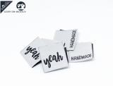 """20 St. Label """"yeah"""" hellgrau/schwarz"""