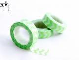 Masking Tape Zickzack hellgrün/weiss 1.5cm/10m