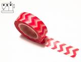 Masking Tape Zickzack rot/weiss 1.5cm/10m