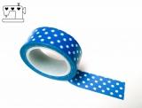 Masking Tape Punkte blau/weiss 1.5cm/10m