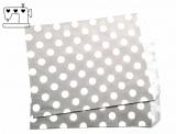 10 St. Papiertüten Punkte grau/weiss  13x18cm