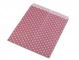 10 St. Papiertüten Punkte rubin/weiss  15x19cm