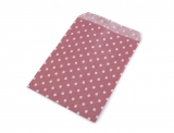 10 St. Papiertüten Punkte rubin/weiss  9x14cm