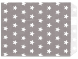 10 St. Papiertüten Sterne grau 13x16.5cm
