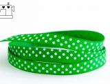 Ripsband, 9mm, Punkte/apfel-grün