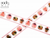 "Ripsband, 22mm ""cupcakes"""