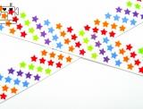 "Ripsband, 22mm ""color-stars"""