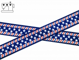 "Ripsband, 22mm ""stars-stripes"""