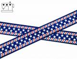 """Ripsband, 22mm """"stars-stripes"""""""