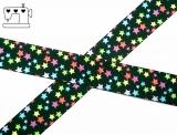 "Ripsband, 22mm ""color-stars-black"""