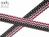 """Ripsband, 22mm """"wave-dots-pink"""""""