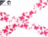"Ripsband, 22mm ""Sommervogel weiss/pink"""