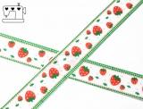 """Ripsband, 22mm """"Erdbeeren"""""""