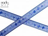 "Ripsband, 22mm ""Maritim2 blau/weiss"""