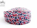 "Ripsband, 25mm ""stars blue/red"""