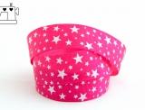 """Ripsband, 25mm, """"stars pink/white"""""""