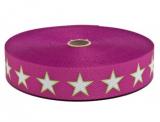 Gurtband 30mm - SterneGr-pink