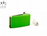 Gürtelschnalle 25mm inkl. Endstück - grasgrün